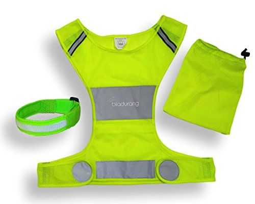 Reflective Vest  LED Armband for Running or Cycling Best High Visibility Safety Vest  Comfortable Adjustable Lightweight Gear with Pocket for Jogging Biking and Dog walking  Women and Men -- Want to know more, click on the image.