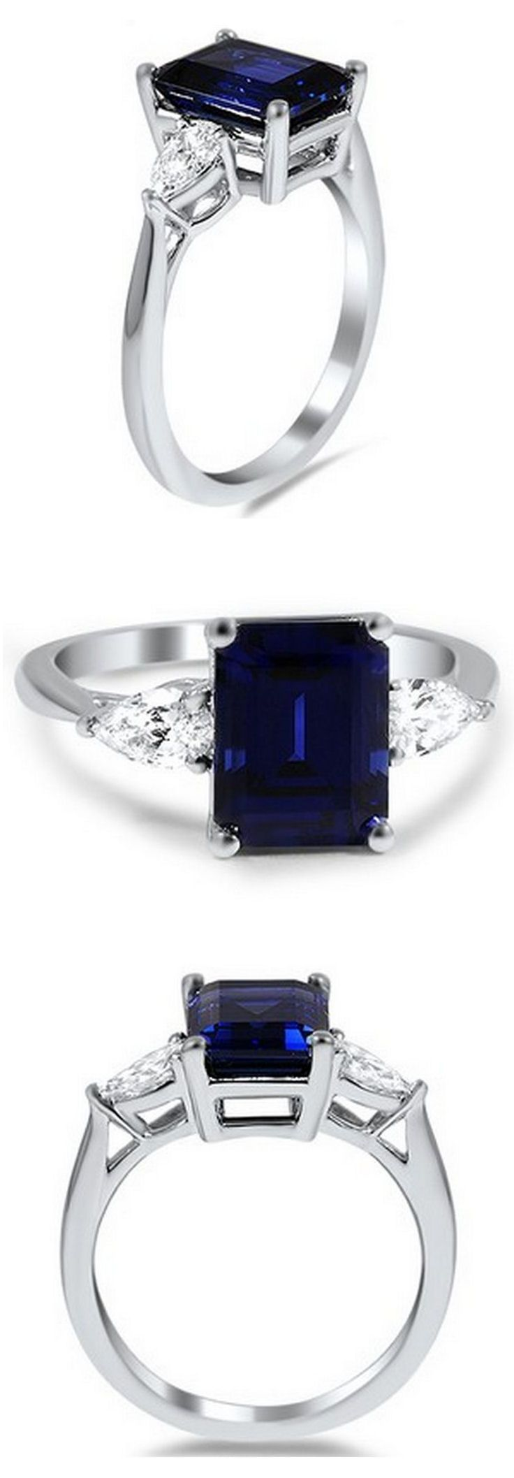 Sapphire & Diamond Ring //