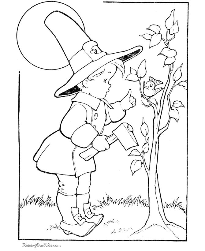free thanksgiving coloring pictures