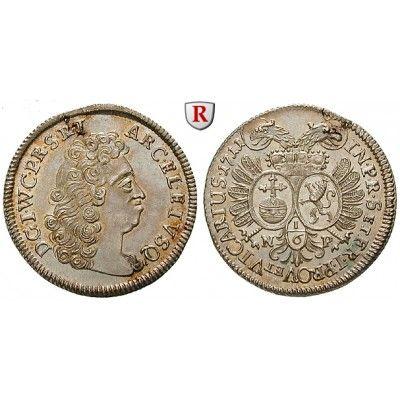 Jülich-Kleve-Berg, Herzogtum Jülich-Berg, Johann Wilhelm II., 1/6 Taler 1711, f.st: Johann Wilhelm II. 1679-1716. 1/6 Taler 1711… #coins