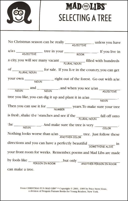 holiday mad libs - Yahoo Image Search Results