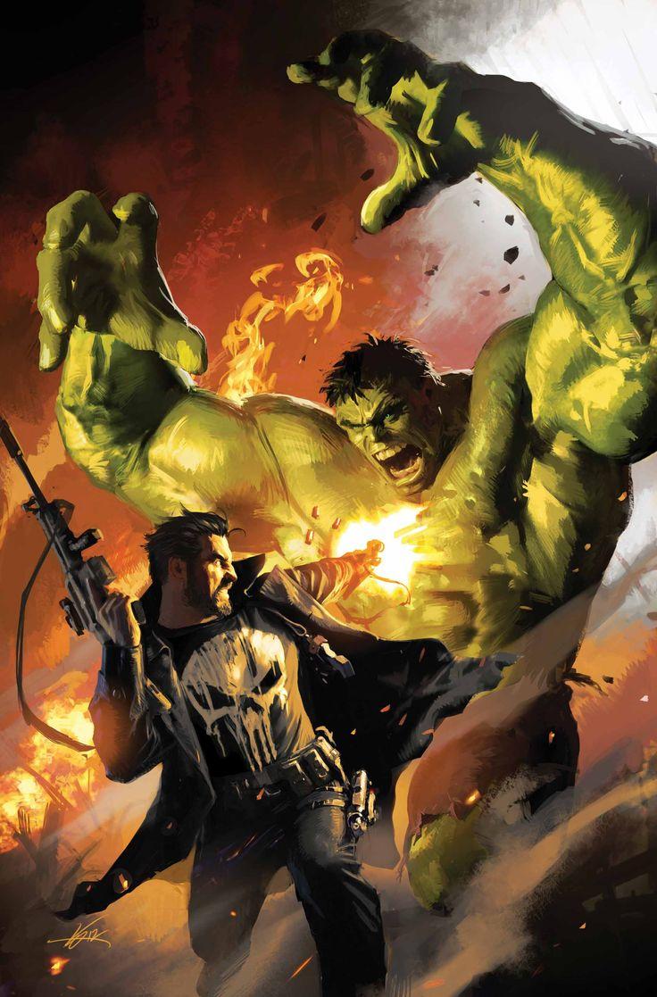 185 best marvel comics images on pinterest marvel universe comic the punisher vs hulk michael komarck fandeluxe Gallery