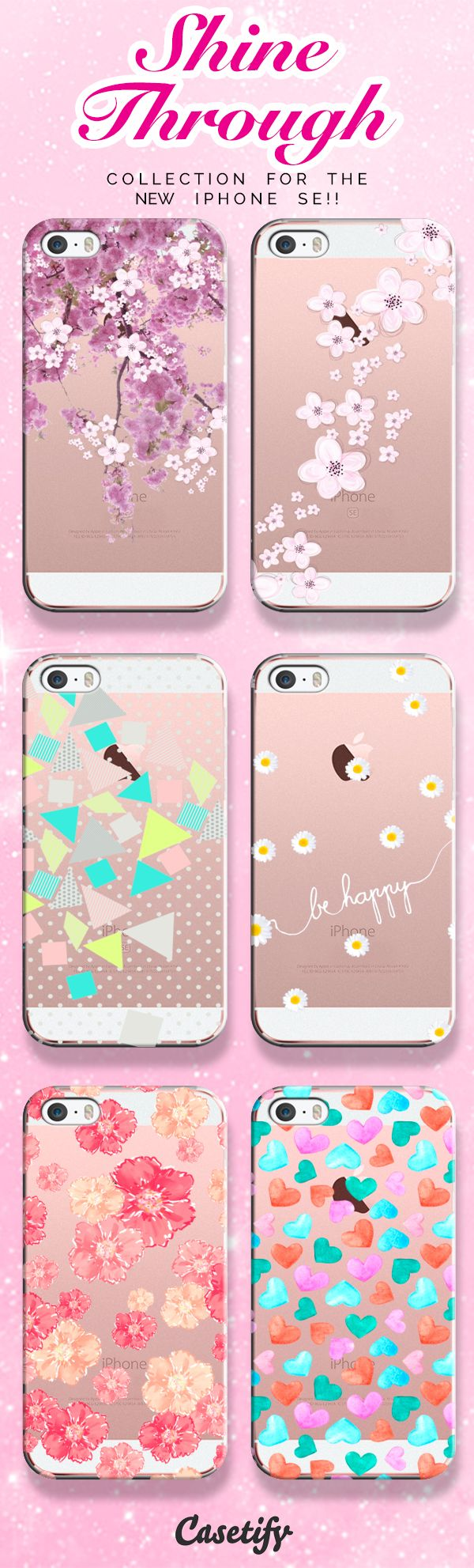 pinterest: @jaidyngrace Check out our See Through collection for the new iPhone SE!! | @casetify