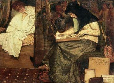 La enfermera (The nurse). Lawrence Alma-Tadema. 1872. Localización: Colección particular . https://painthealth.wordpress.com/2015/12/10/la-enfermera/