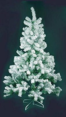 Sapin de Noël artificiel ENNEIGE - FLOQUE - Hauteur 2m10 - 618 Branches - qualité supérieur