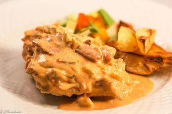 Baconlindad Kycklingfilé Med Krämig Röra! #slankosund #recept #recette #recipe #bacon #kyckling #