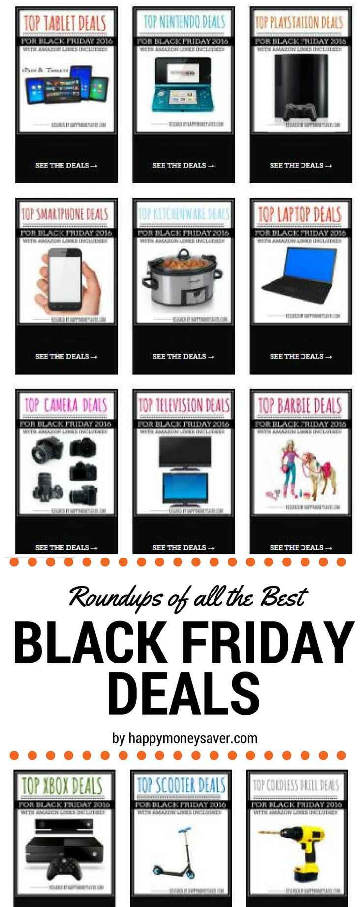 Top Black Friday deals! All the research has been done on all these top Black Friday deals on electronics, laptops, game systems, toys, coats, pajamas and more. You're gonna love this! via @HappyMoneySaver