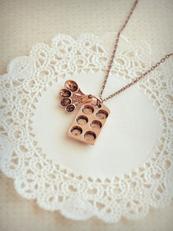 the little baker necklace in antiqued copper by bellehibou