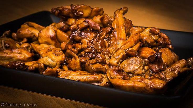 Gelakte kip met soja, mirin en honing 'Japonaise'
