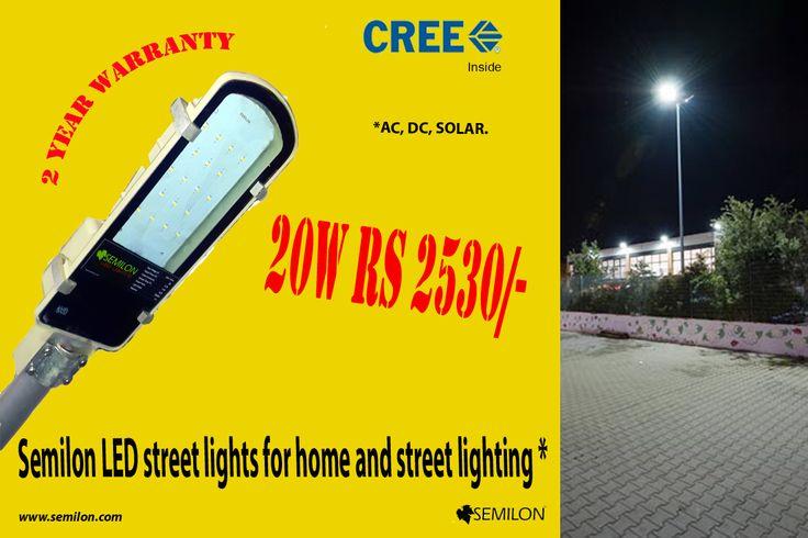 #Semilon 20W #LED #Street #lights for #top lighting and street lighting. 2 Year warranty.