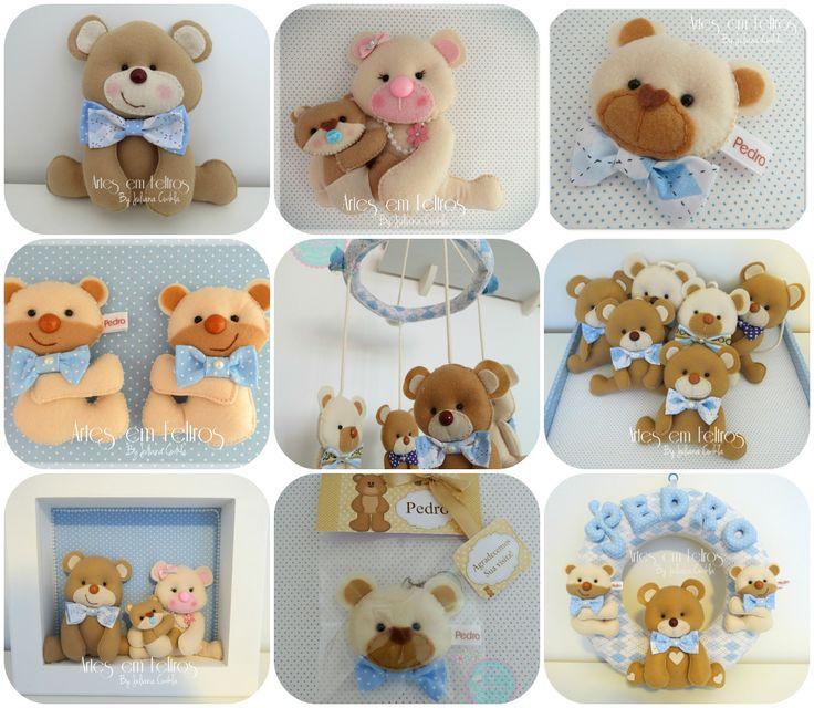 Apostila Kit Maternidade Ursos Todos os Moldes disponíveis com passo a Passo R$26,90