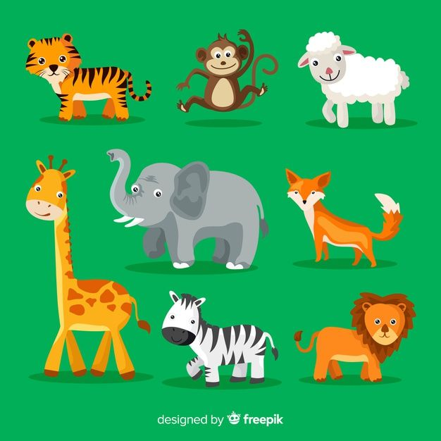 Collection Of Cute Cartoon Animals Free Vector Freepik Freevector Design Nature Cartoon Animal Cute Cartoon Animals Cartoon Animals Cute Cartoon