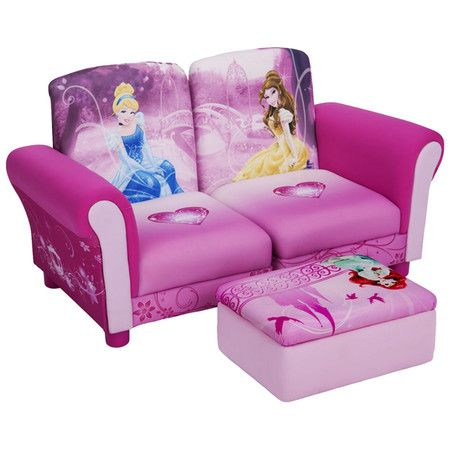 Found it at Wayfair - Disney Princess Kids Sofa and Ottoman