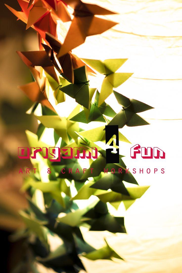 Origami Butterflies Lamp <3 // Origami_ 4_Fun - Art & Craft Workshops // https://www.facebook.com/pages/Origami_4_Fun-Ayariku-Handmade/121528511242844 // origami_4_fun@yahoo.com