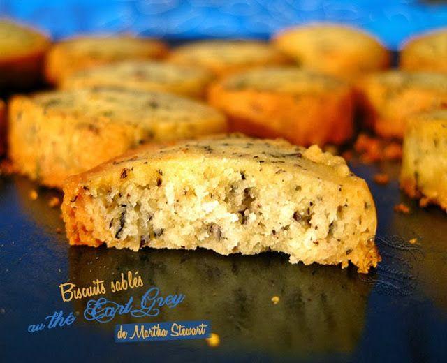 biscuits sablés au thé earl grey
