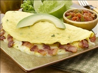 This is an Atkins recipe, but it really is the best omelet I've ever eaten, whether you're on a diet or not!