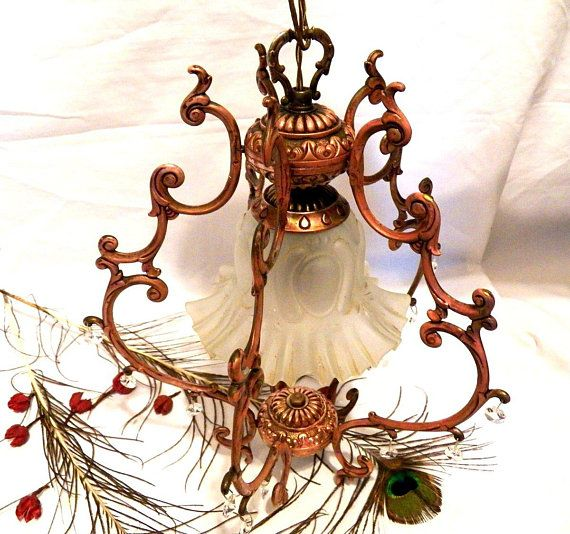 LampArt Antique LampChandelier Nouveau Ceiling 08OkwPn