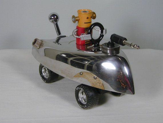 ROBOT CAR  Found Object Robot Sculpture by NutzenBoltsWorks