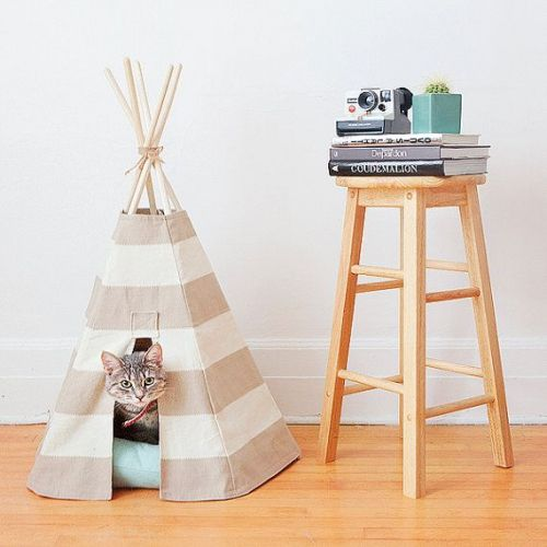 // IDEE // DIY // Tipi pour chats