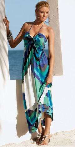 maxi dress - nice enough to wear to dinner in the Dining Room - can wear it as a swimsuit coverup?