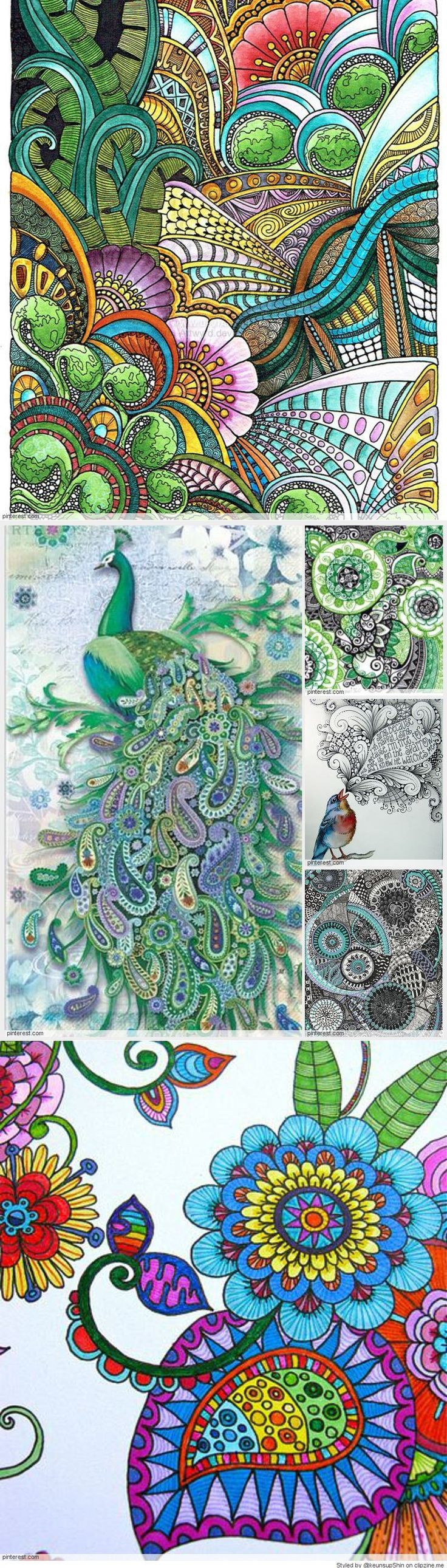 Zen doodle colour - You Can Do This With Colored Pencils Get A Set Of 48 Aurora Colored Pencils