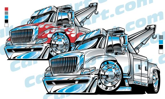 Medium Duty Tow Truck Cartoon Clip Art Classic Trucks Lifted