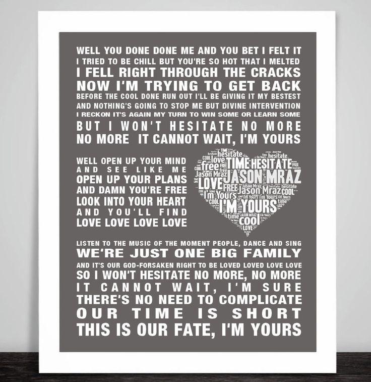 Jason Mraz Wedding Songs: 1430 Best Images About Song Lyrics On Pinterest