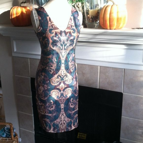NWT Ally Ollie embellished dress flawless large Poly Spandex blend cocktail dress large NWT Ally Ollie  Dresses