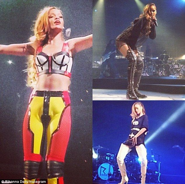 Phresh Out the Runway: All eyes were on Rihanna as she debuted a dazzling array of sexy costumes during the kick-off of her 27-city Diamonds World Tour in New York Friday