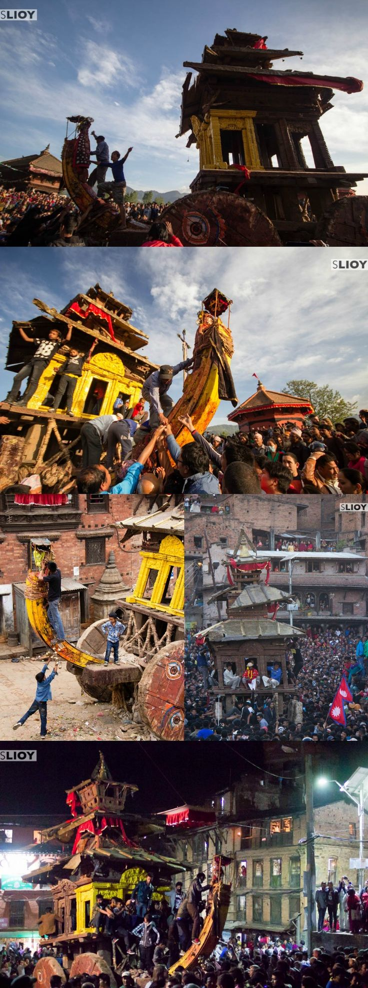 Of Chariots and Tongue Piercings - The Bisket Jatra festival in Bhaktapur, Nepal. More at  http://www.monkboughtlunch.com/chariots-pierced-tongues-bisket-jatra-festival-bhaktapur-nepal/