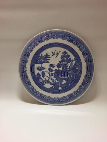 Spode-Blue-Room-Collection-made-in-England-Porcelain-Cake-Plate-034-Orient-034-Pattern