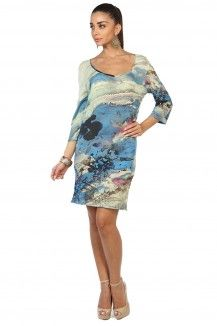 Blue Prints Highlighted Multicolored Dress  Rs. 1,845