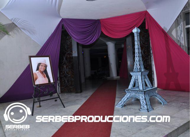 Decoracion Quincea?eras Paris ~   decoraciones de eventos decoracionespara15anos 42 fiestatematica paris