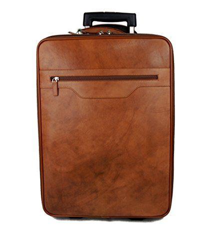 63a647da9 Trolley rígida maleta de cuero bolso de cuero de viaje hombre mujer marron  bolso de cabina
