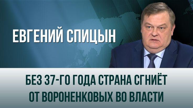 """Евгений Спицын. """"Без 37-го года страна сгниёт от вороненковых во власти"""""""