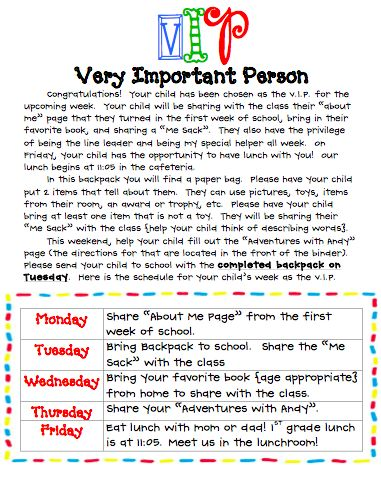 love this schedule for VIP in the classroom.