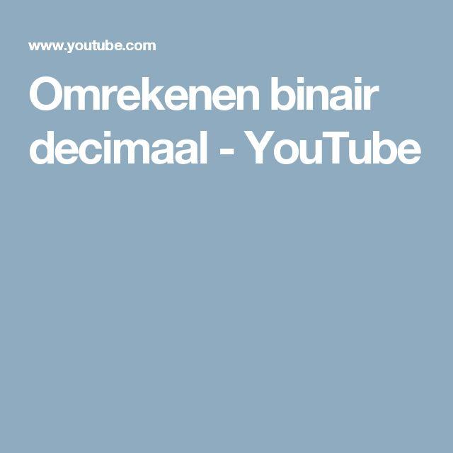 Omrekenen binair decimaal - YouTube