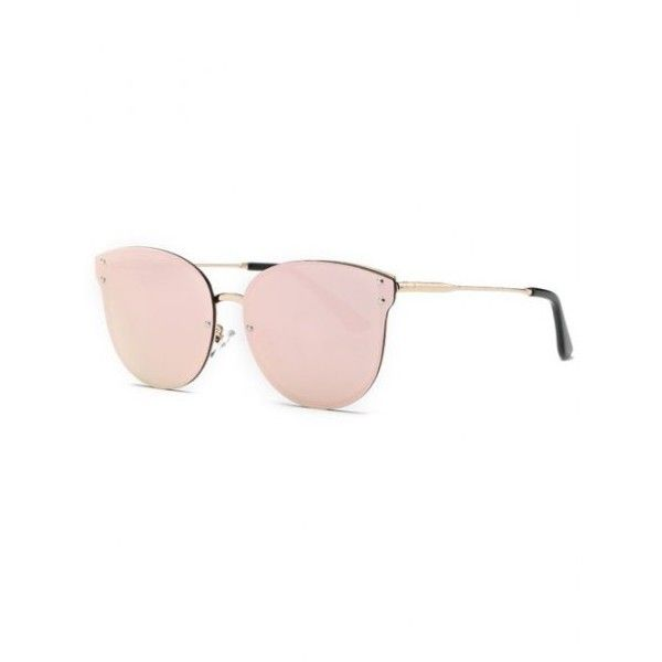Stylish Pink Frameless Mirrored Sunglasses (9.69 CAD) ❤ liked on Polyvore featuring accessories, eyewear and sunglasses