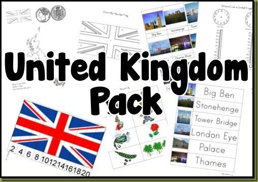Free UnitedKingdom Printable Pack  25 pages of learning activities  RoyalBaloo.com