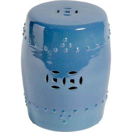 Asa Porcelain Garden Stool In Crystal Blue At Joss And Main