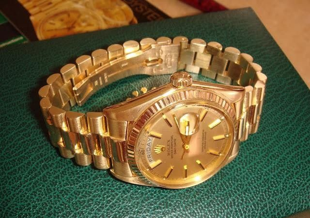 18K solid gold ROLEX Presidential men's - $8490 (Brooklyn NY)