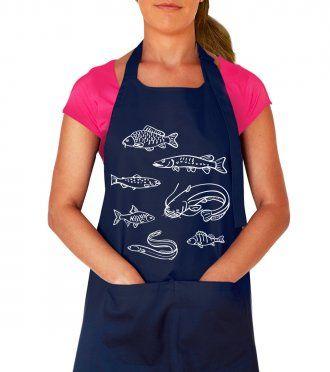 Kuchařská zástěra - Ryby našich vod