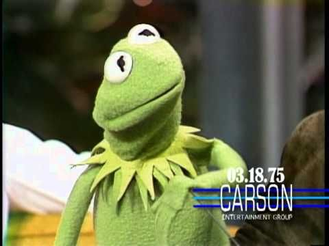 "Johnny Carson chats with Kermit the Frog - Kermit the Frog and Jim Henson are interviewed by Johnny Carson on ""The Tonight Show"" in 1975"
