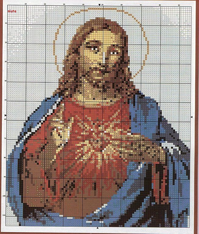cuadros en punto cruz religiosos   Aprender manualidades es ...