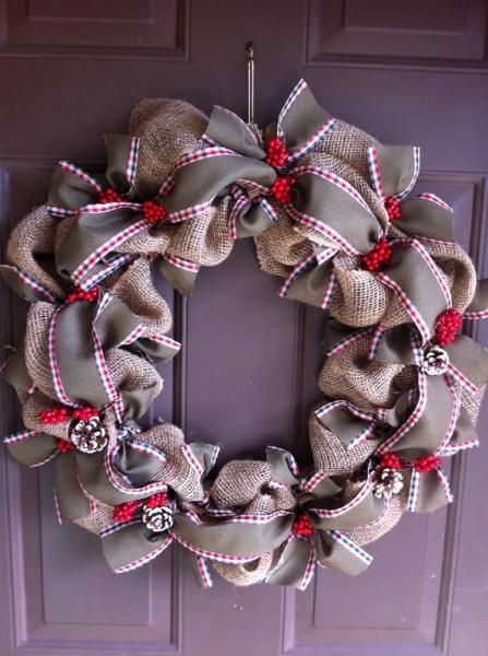 17 best images about christmas wreaths on pinterest Burlap xmas wreath