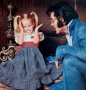 Lisa Marie and Elvis Presley I think he would have gave her the moon if she asked, he loved her so much!