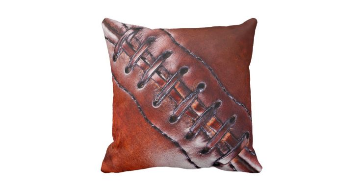 Vintage Personalized Football Team Gifts, Football Pillows or Football a Team Gifts with YOUR TEXT. ONE pillow at a time, Type your Team Name and or each Player's Name and their Jersey Number or YOUR TEXT or delete the temporary text into the Text Boxes. Cool faux vintage football team gifts for guys and their football coaches. Type in your desired text into the 2 text box templates to your right, ONE football pillow at a time, Add to Cart then Go Back to create another custom football…