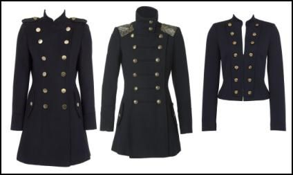 Military coats. I might not pull them off, but looks damn good.