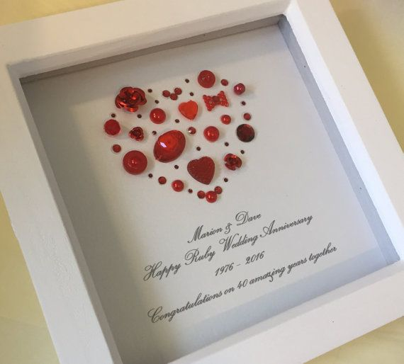 Ideas For 40th Wedding Anniversary Gifts: 55 Best 40th Anniversary Gift Ideas Images On Pinterest