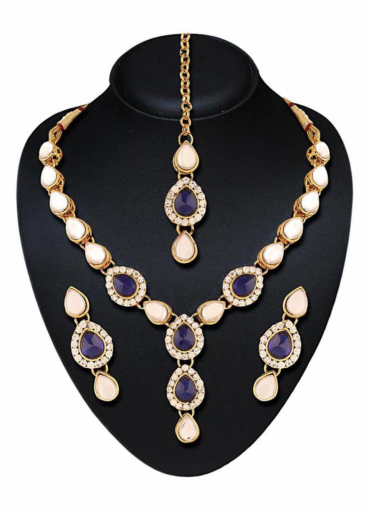 #Purple #Pearl #Jewellery #Set #Designer #Jewellery